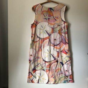 Ellen Negley Dresses - Ellen Negley Art & Sol Sand Dollar Muumuu Large